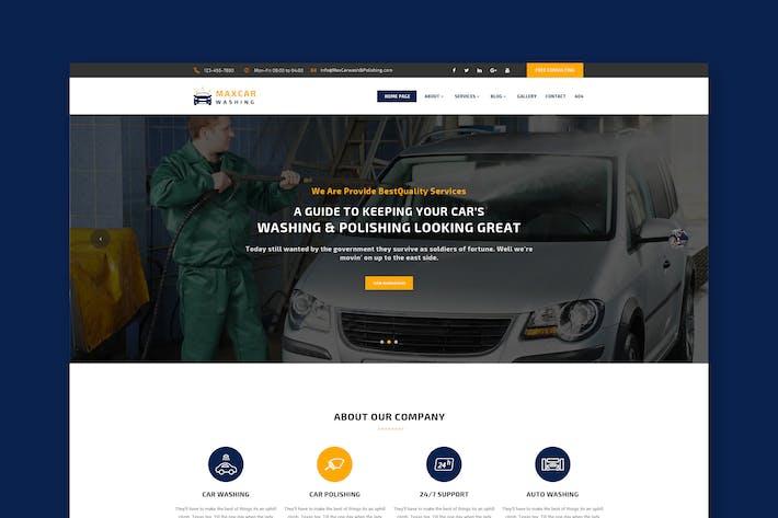 Thumbnail for Car Wash & Polish PSD Template
