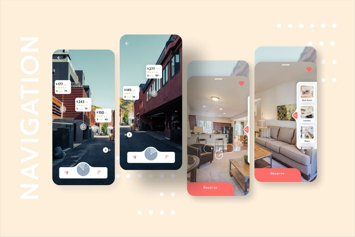 House Rental with Navigation Mobile UI - FV