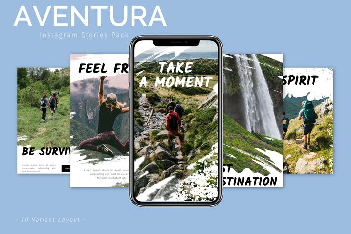 Thumbnail for Aventura - Instagram Story Pack