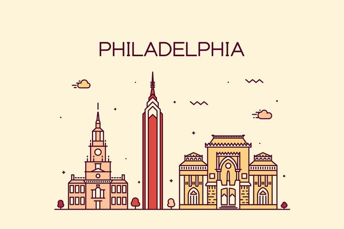 Thumbnail for Philadelphia skyline, United States