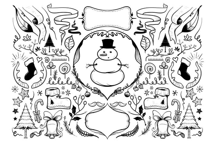 Thumbnail for Handdrawn Christmas Illustrations