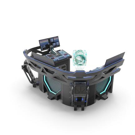 Sci Fi Hologram Control Panel