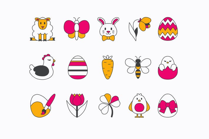 Thumbnail for Easter Lines Icons