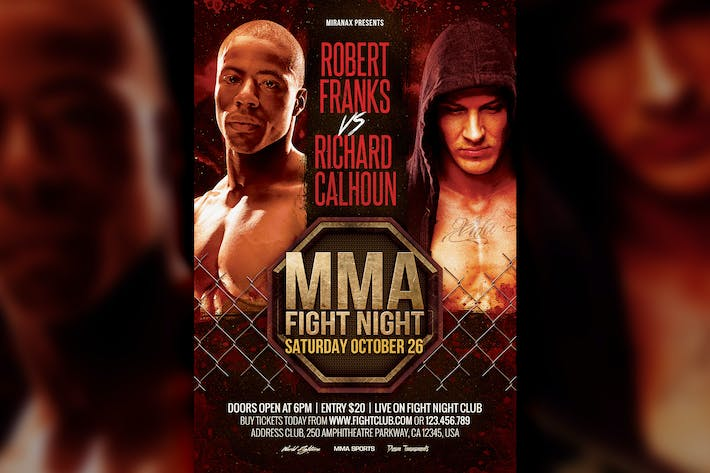 MMA / Boxing Showdown Fighting Club Flyer Template by HyperPix on ...