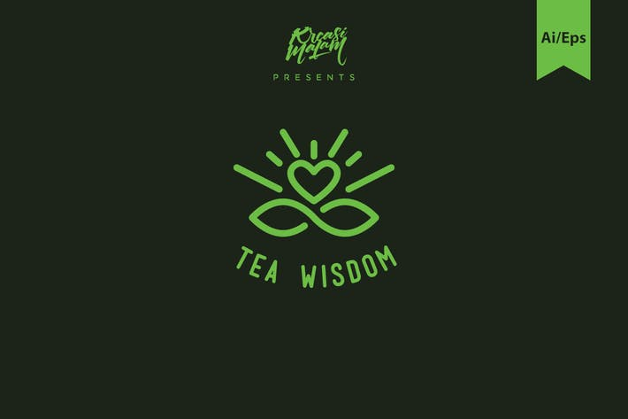 Thumbnail for Tea Wisdom Logo Template