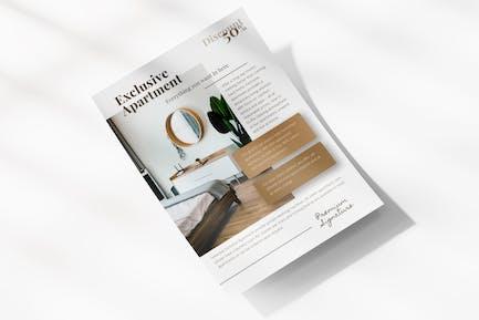Minimalist Apartment Flyer Template
