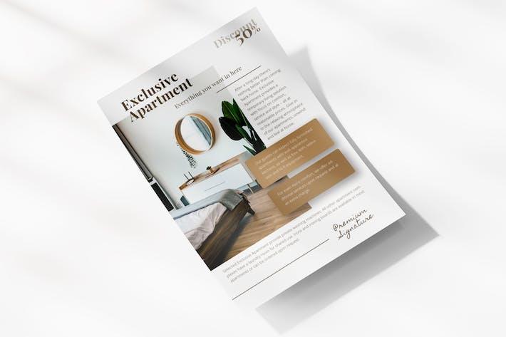 Thumbnail for Modèle de dépliant d'appartement minimaliste