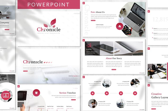 Cover Image For Chronicle - Business Powerpoint Template
