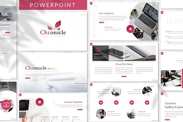 Thumbnail for Crónica - Plantilla de PowerPoint empresarial