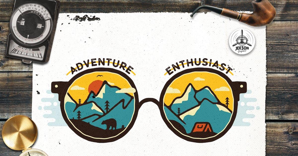Download Vintage Adventure Logo, Travel Badge Camp Patch by JeksonJS