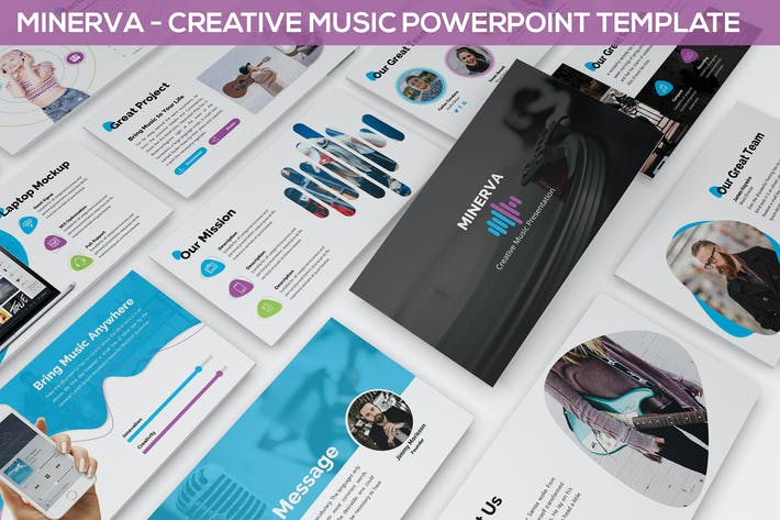 Thumbnail for Minerva - Creative Music Powerpoint Presentation