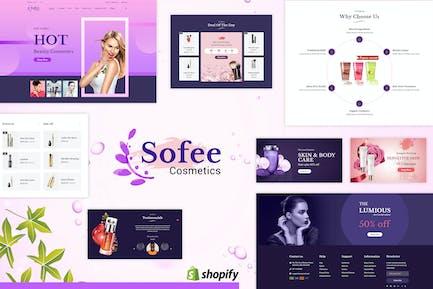 Sofee | Cosmétique de beauté, Salon de coiffure Shopify Thème