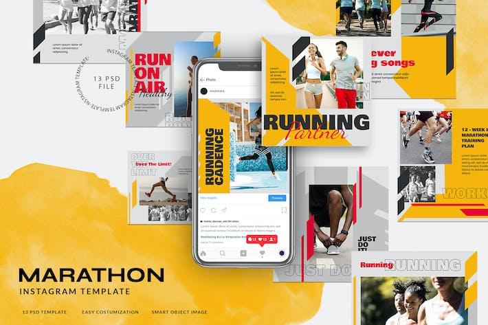 Thumbnail for Sports Instagram Stories pour Marathon ou Course à pied
