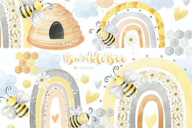 Bumble Bee Rainbow design
