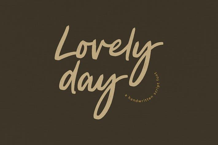Thumbnail for Lovely Day Script Handwritten Font