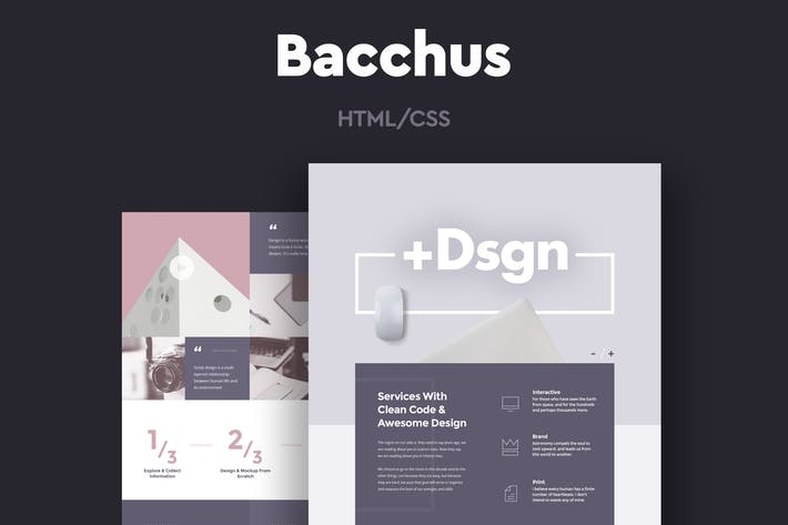 Thumbnail for Bacchus - One Page HTML Template