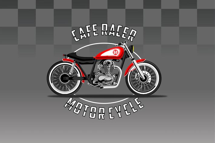 Thumbnail for Caferacer Bike - Vector Illustration
