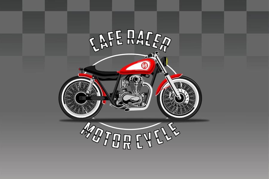 Caferacer Bike - Vector Illustration