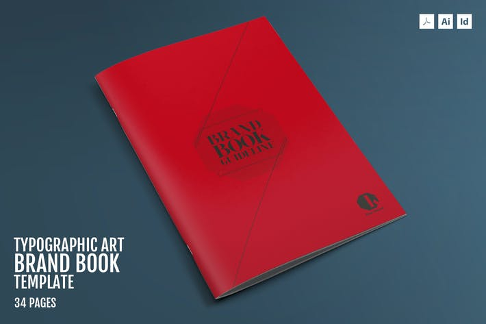 Cover Image For Typographic Art-Brand Guidelines Template
