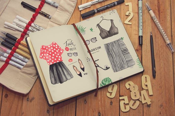 Cover Image For Journal Diary Notebook Sketch
