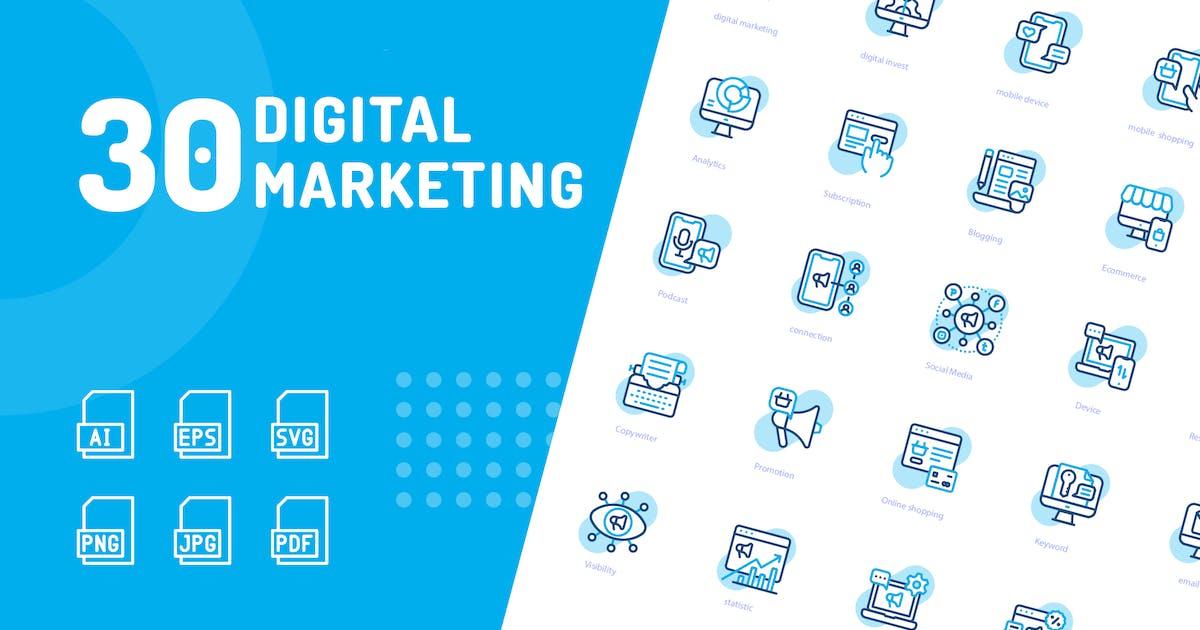 Download Digital Marketing Shape Icons by kerismaker
