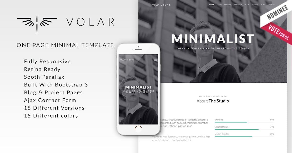 Download Volar | One Page Minimal Parallax Drupal Theme by NikaDevs