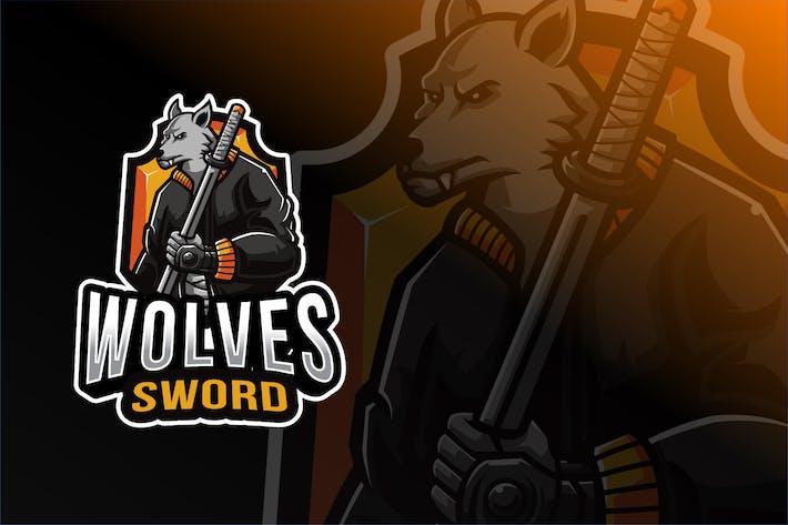 Thumbnail for Wolves Sword Esport Logo Template