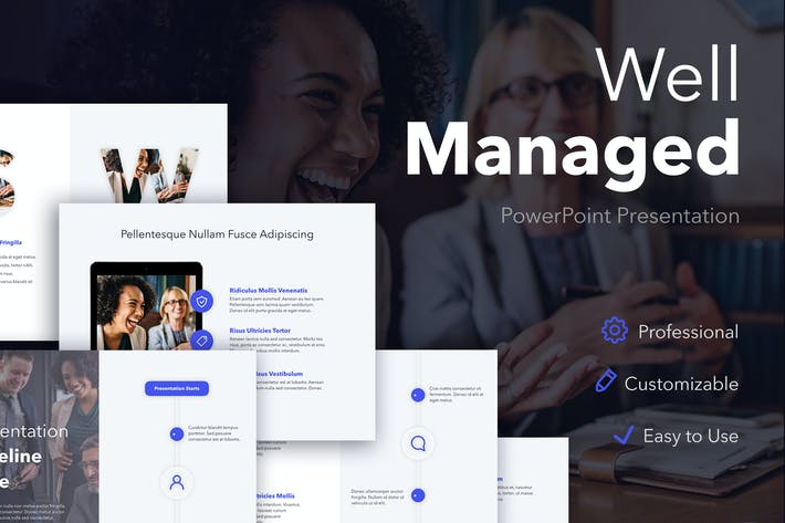 Thumbnail for Well Managed PowerPoint Template