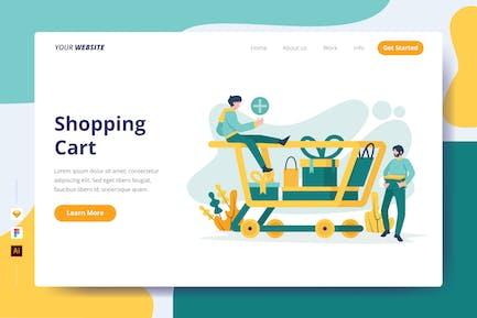 Shopping Cart - Landing Page