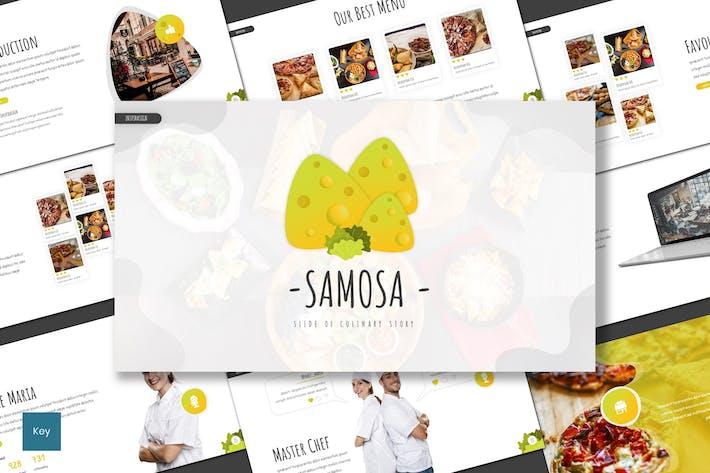 Thumbnail for Samosa - Culinary Keynote Template