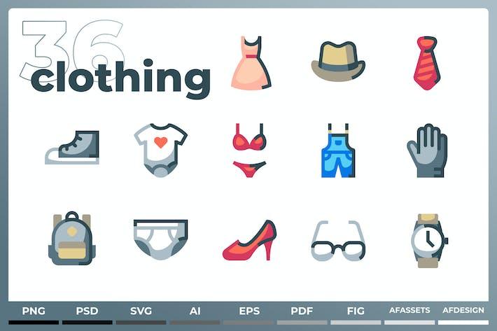 Clothes & Accessories Icons - Iconez