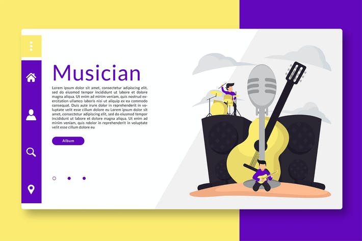 Musician - Web Header and Landing Page GR
