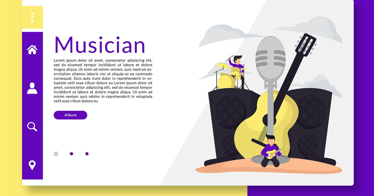 Download Musician - Web Header and Landing Page GR by Rometheme