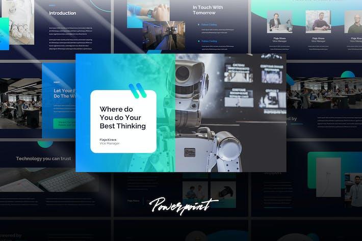 Thumbnail for Robot - Tech Business Powerpoint Template