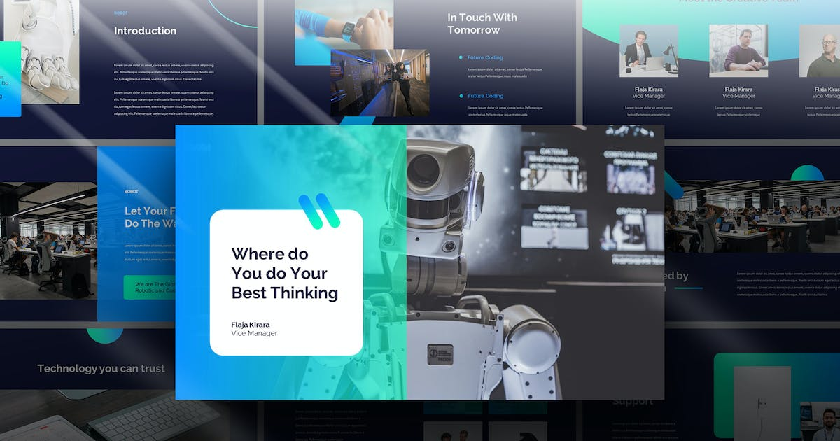 Download Robot - Tech Business Powerpoint Template by Slidehack