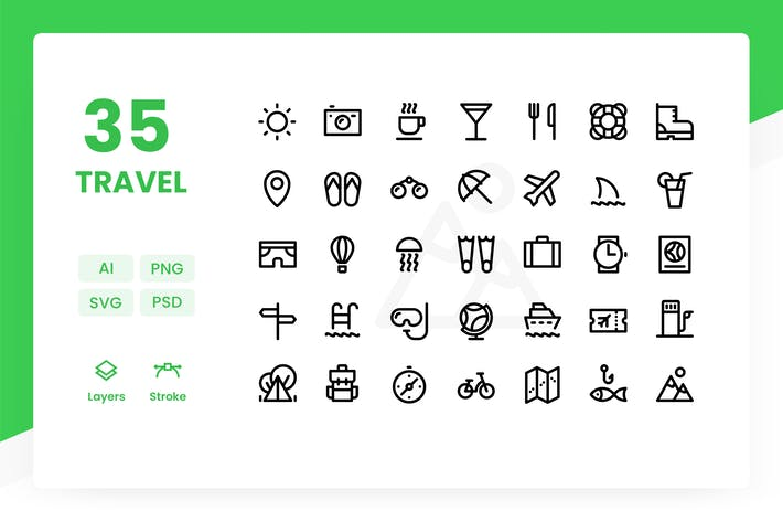 Thumbnail for Reise - Icons Pack