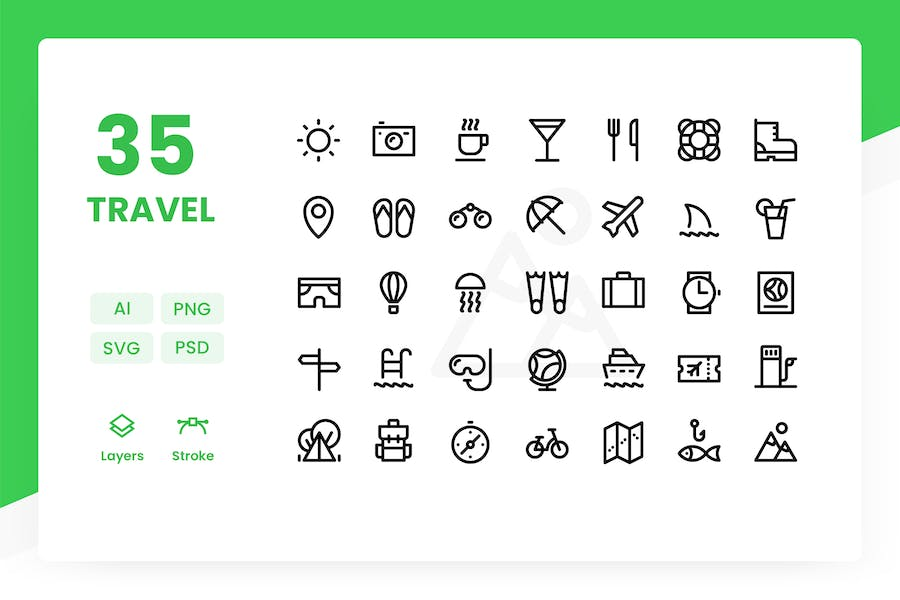 Travel - Icons Pack
