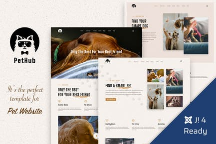 PetHub, Pet Care & Veterinary Joomla 4 Template