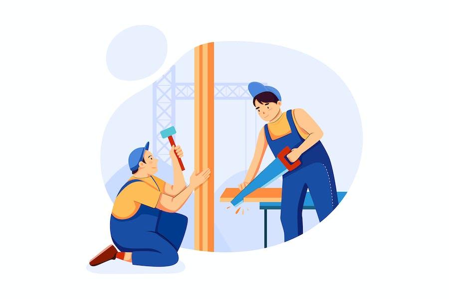 Carpentry & Construction Service Illustrations