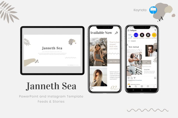 Janneth Sea - Keynote ка & Instagram Шаблон
