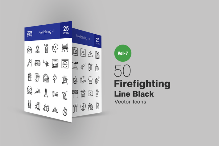 Thumbnail for 50 Firefighting Line Icons