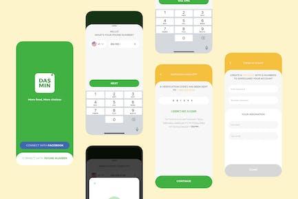 Registrieren — Mobile UI Kit nft für Lebensmittellieferungen