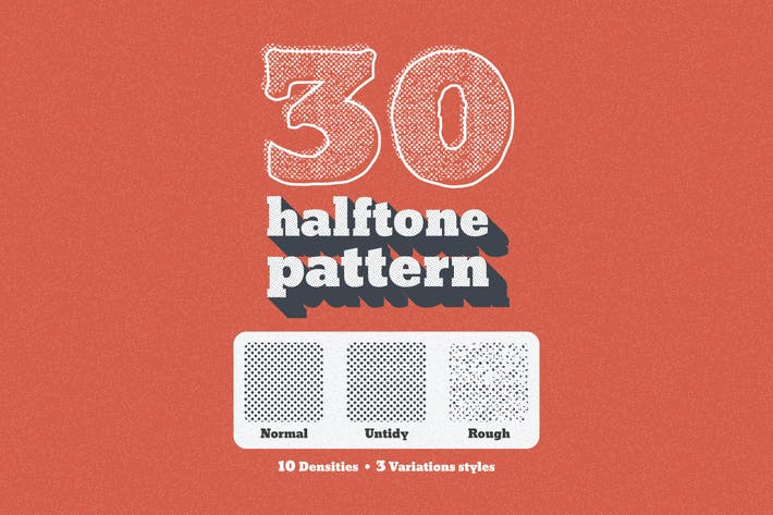 Thumbnail for 30 Seamless Tiled Halftone Pattern