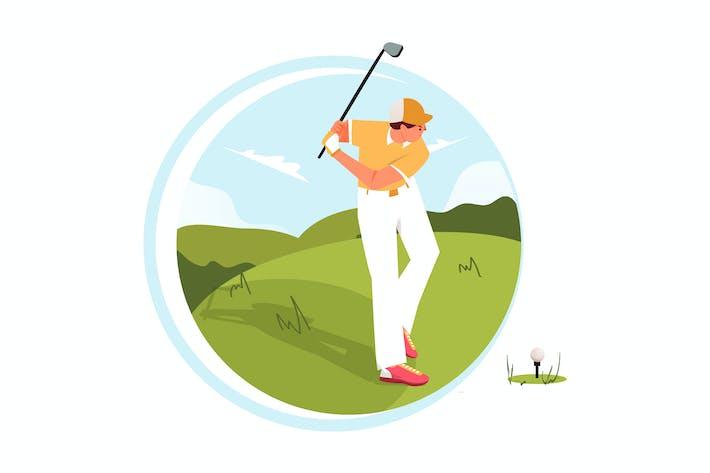 Golf-Abbildung