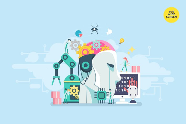 Künstliche Intelligenz Vektor konzept