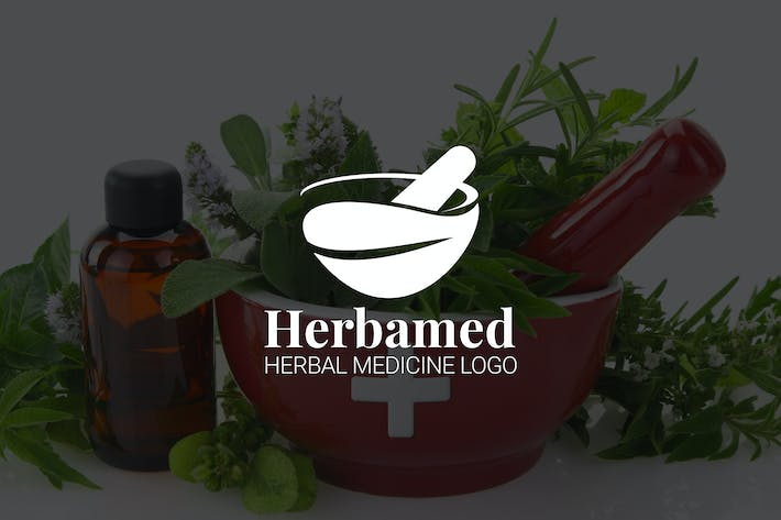 Thumbnail for Herbamed : Herbal Medicine or Pharmacy Logo
