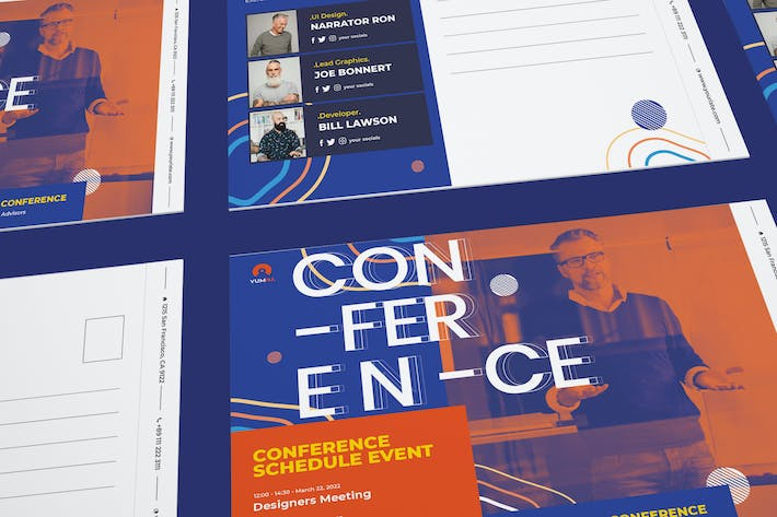 Thumbnail for Conference Postcard PSD Template