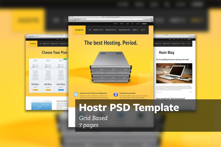 Thumbnail for Hostr - PSD Template
