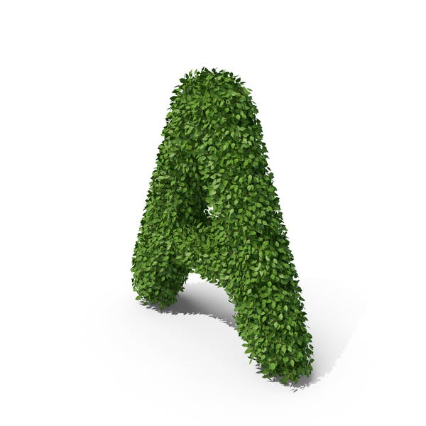 Hedge Shaped Letter A