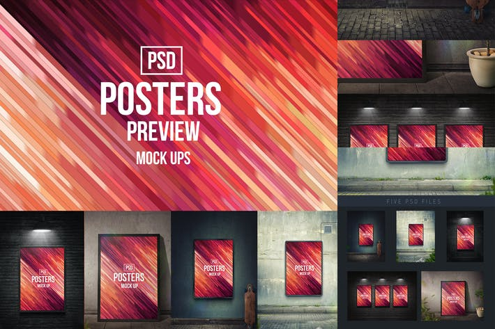 Thumbnail for Posters Mock-Ups (PSD)